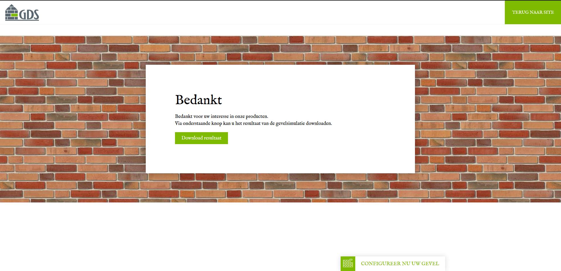 Gevelsimulator_GDS Keramiek_downloadscherm